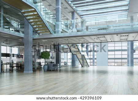 Elegant office interior #429396109