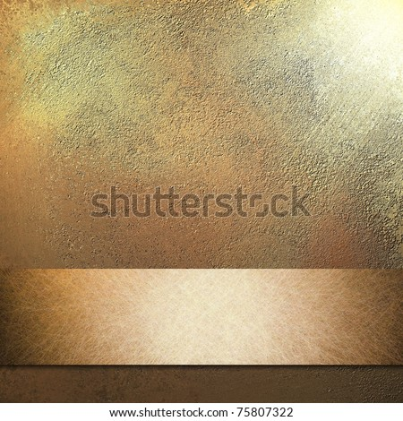 elegant peach background with antique grunge texture, metallic peachy colored ribbon stripe, spotlight in top corner, and copy space to add your own text or title