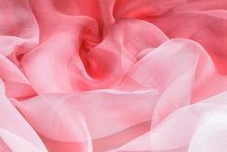 elegant pink silk as background