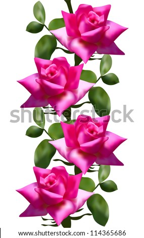 elegant seamless pattern with pink roses for your design