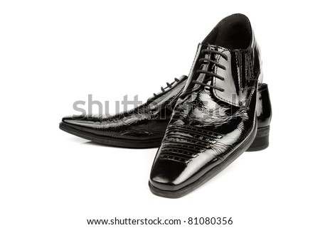Elegant shiny black dress shoes