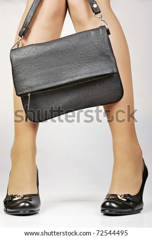 elegant shoes on women's feet