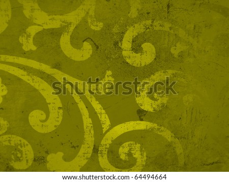 Elegant subtle decorative golden christmas paper surface close up. More of this motif & more decors in my port.