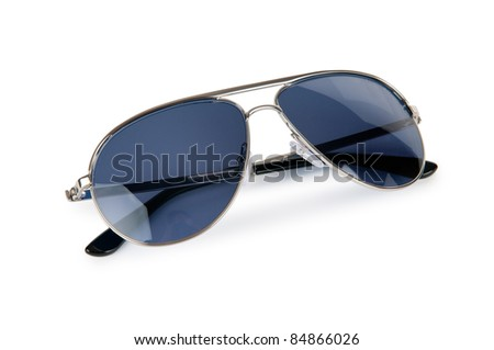 Elegant sunglasses isolated on white