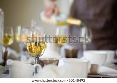 Elegant table setting for afternoon coffee or tea