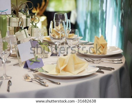 stock photo elegant table setting for wedding