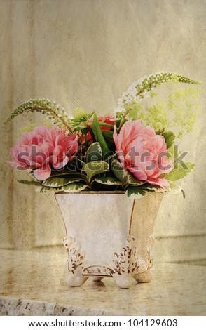 "Elegant ""vintage look"" flower arrangement."