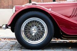 Elegant Vintage Retro Car. Old School Revival Auto