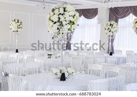 Elegant Wedding Reception Table Arrangement Floral Centerpiece Ez