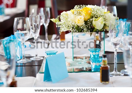 Wedding Table Settings on Elegant Wedding Table Setting Stock Photo 102685394   Shutterstock