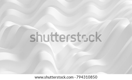 Elegant white background with drapery fabric. 3d illustration, 3d rendering.