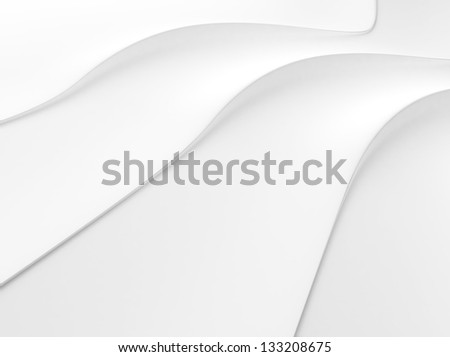 Elegant white background with 3 flowing lines and space for text