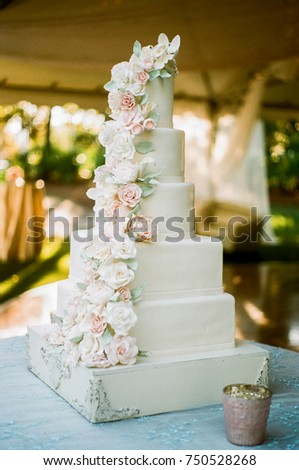 Elegant white wedding cake with pink flowers ez canvas elegant white wedding cake with pink flowers mightylinksfo