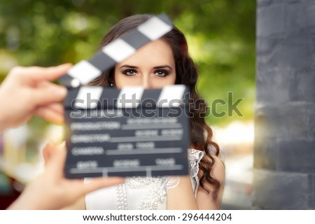 Elegant Woman Ready for a Shoot - Young actress ready to film a new scene