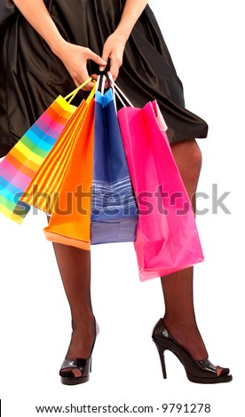 Original Woman Wearing A Shopping Bag  Pictures