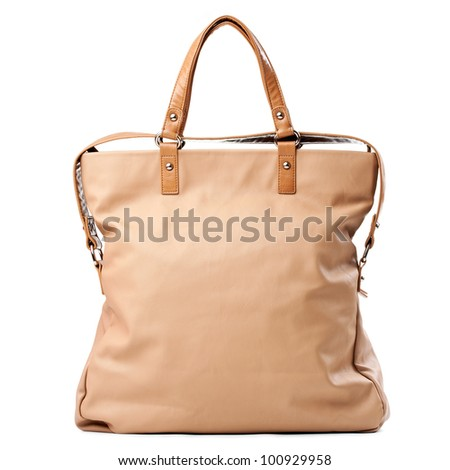 Elegant women bag isolated over white