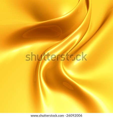 Elegant yellow gold silk satin fabric background