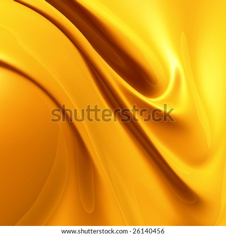 Elegant yellow silk satin fabric background