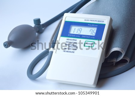 elektronic Medical tonometer isolated on white