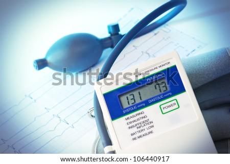 elektronic Medical tonometer isolated on white