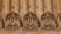 Element exterior in Mandir Palace, Jaisalmer, Rajasthan, India