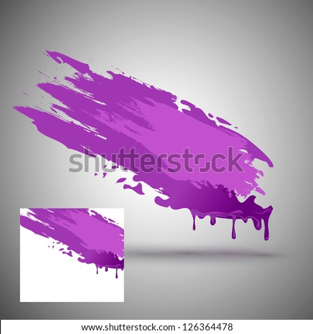element for design in the form of purple paint smear