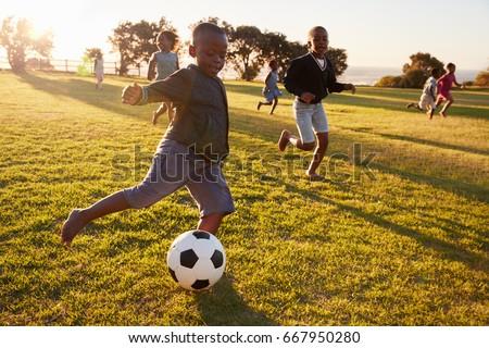 elementary school kids playing...