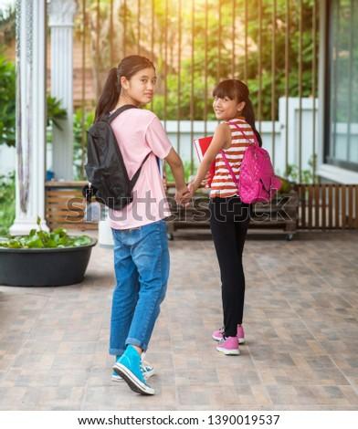Elementary school students back to school #1390019537