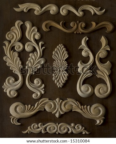 Elements of a carved frame