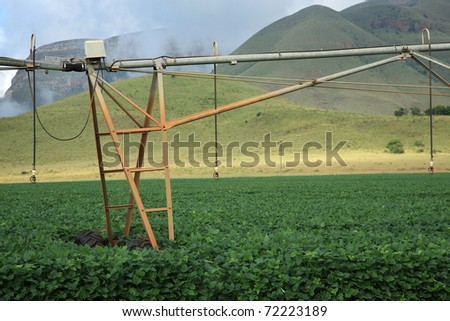 Elements of an automatic irrigation system on an agricultural farm in Mpumalanga, South Africa