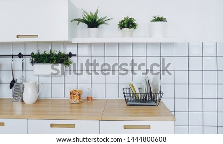 Elements of home interior, kitchen furnishings #1444800608