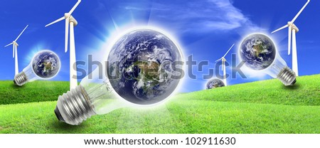 Elements of this image furnished by NASA A wind farm is a group of wind turbines in the same location used to produce electric power