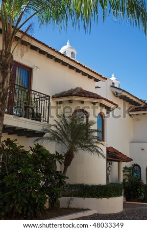 Elements of traditional and modern mexican architecture, Puerto Vallarta, Mexico