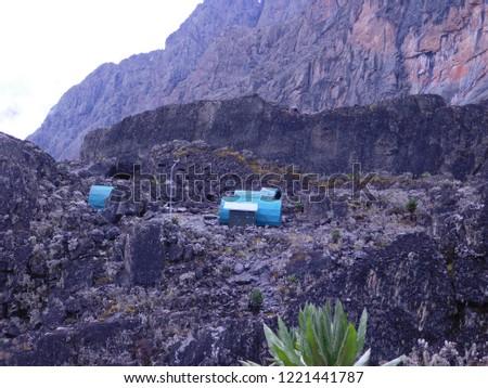 Elena Hut(4541 ASL) at Rwenzori Mountains in Uganda #1221441787