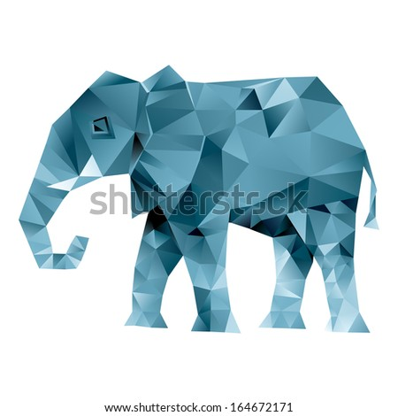 Elephant abstract isolated on a white backgrounds