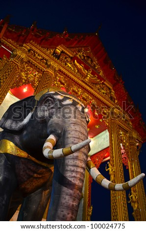 Elephant always take an important role in the Buddha's time and it's the symbol of Thailand---this picture is taken in Wat semeannari, Bangkok