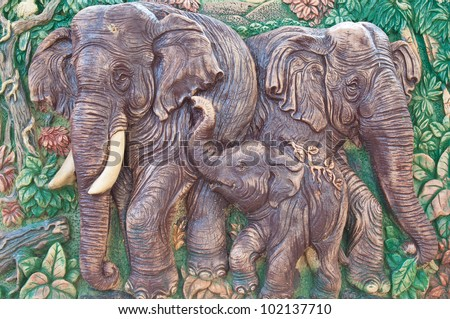 elephant carving texture background