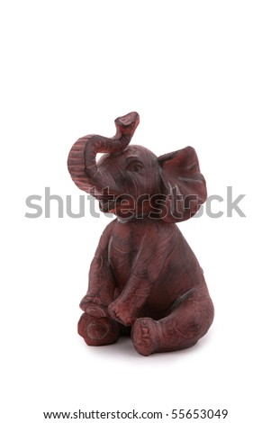 Elephant figurine isolated on white
