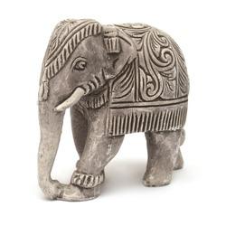 Elephant figurine isolated on white background
