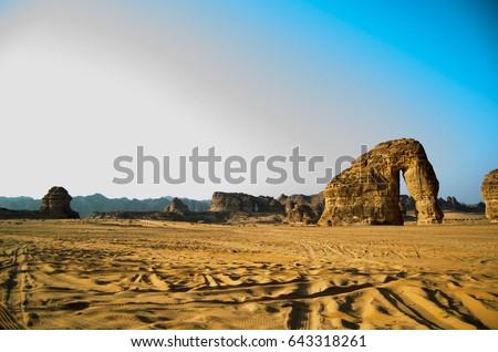 Elephant Rock - Al Ula -Saudi Arabia   #643318261