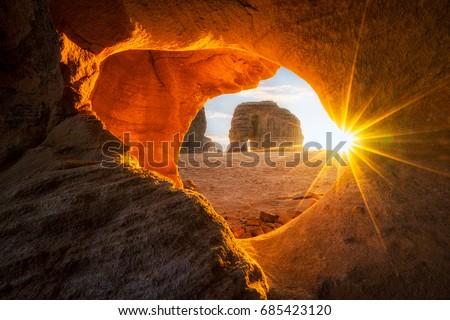 Elephant rock... in Saudi Arabia
