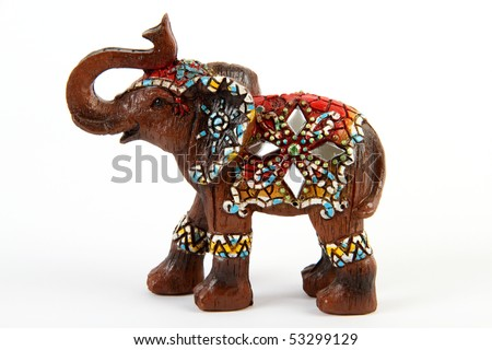 Elephant souvenir / decor isolated on white background