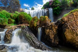 Elephant Waterfall. Dalat. Vietnam. It is more than 30m high, about 15m wide.