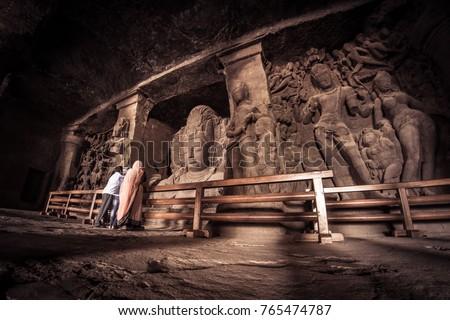 Elephanta Caves at Mumbai, India Stock fotó ©