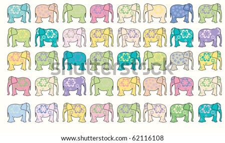 elephants background, abstract art illustration; for vector format please visit my gallery