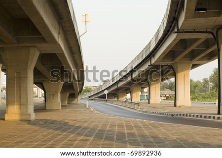 elevated express way at evening time