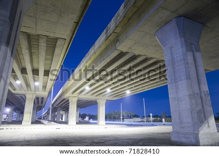 elevated express way at night time