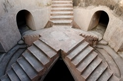 elevated platform of sumur gumuling mosque at taman sari water castle - the royal garden of sultanate of jogjakarta