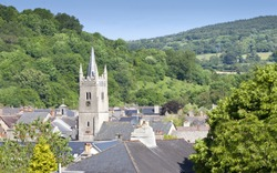 Elevated view of the Devonshire town of Ashburton. United kingdom. Situated on the edge of Dartmoor.