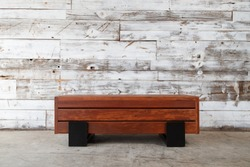 Elevation of a hand made wood bench